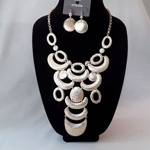 Chico's NWT Statement Necklace and Earring Set